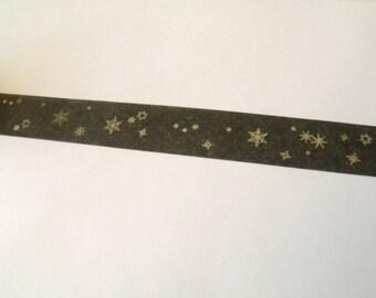 5 m Masking Tape Washi Tape tape black stars
