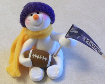 Minnesota Vikings: snowman ornament