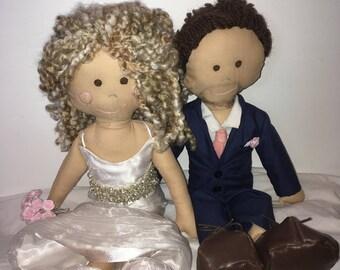Wedding Couple Rag Dolls