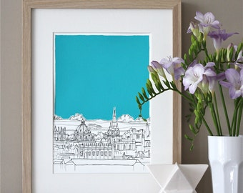 Oxford Rooftops Art Print