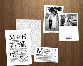 Romance wedding invitations