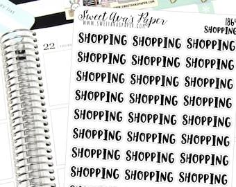 Shopping Planner Stickers - Script Planner Stickers - Lettering Planner Stickers - Typography Stickers - Errand Planner Stickers - 1864