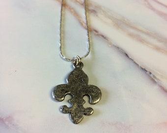 Silver Fleur De Lis Necklace