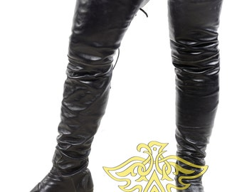 High boots ; Pirate Boots, Boots Musketeers; cosplay; LARP; Historical shoes