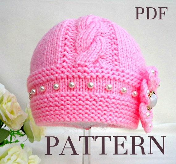 Knitting Pattern Baby Hat Baby Beanie Knit Pattern Infant Baby Girl