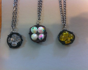 SALE**** Assorted birds nest necklaces