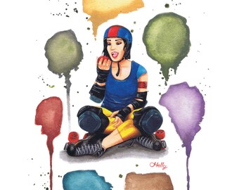 The Eater - poster A3 - Roller Derby