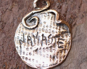 Namaste Sterling Silver Charm
