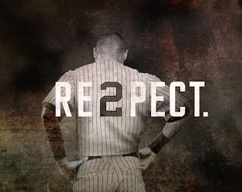 New York Yankees, Derek Jeter,  Baseball Decor, Yankees, New York Canvas, Sports Wall Art, Sports Decor, Jeter, Man Cave Art, NYC Art