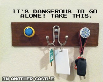 Legend Of Zelda ITS DANGEROUS Vinyl Decal For Key Hooks Coat Hooks And Home  Decor