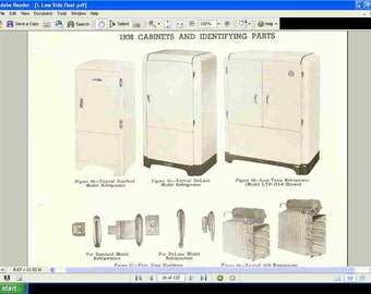 """NORGE REFRIGERATOR SERVICE MANUALs - 240pgs for Testing and Repair of 1930-1948 Vintage Refrigerators - """"Fix that Old Norge!"""""""