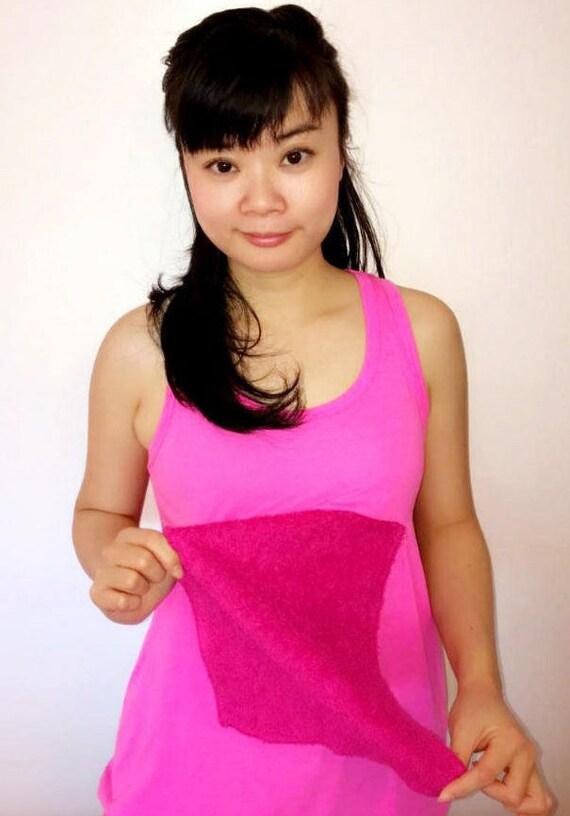 Sweaty Tee, Style 4, women's slit panel, tank top