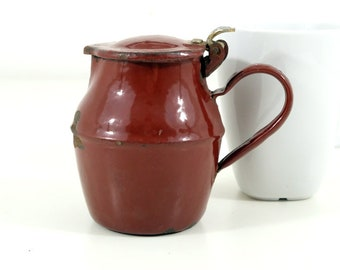 Small French Porcelain Coated Jug/Creamer