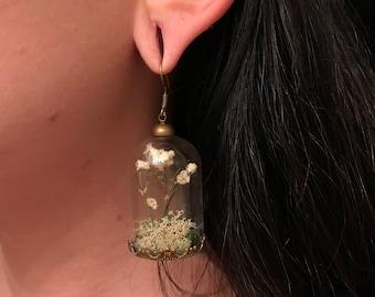 Glass Dome Terrarium Earrings (1 Pair)