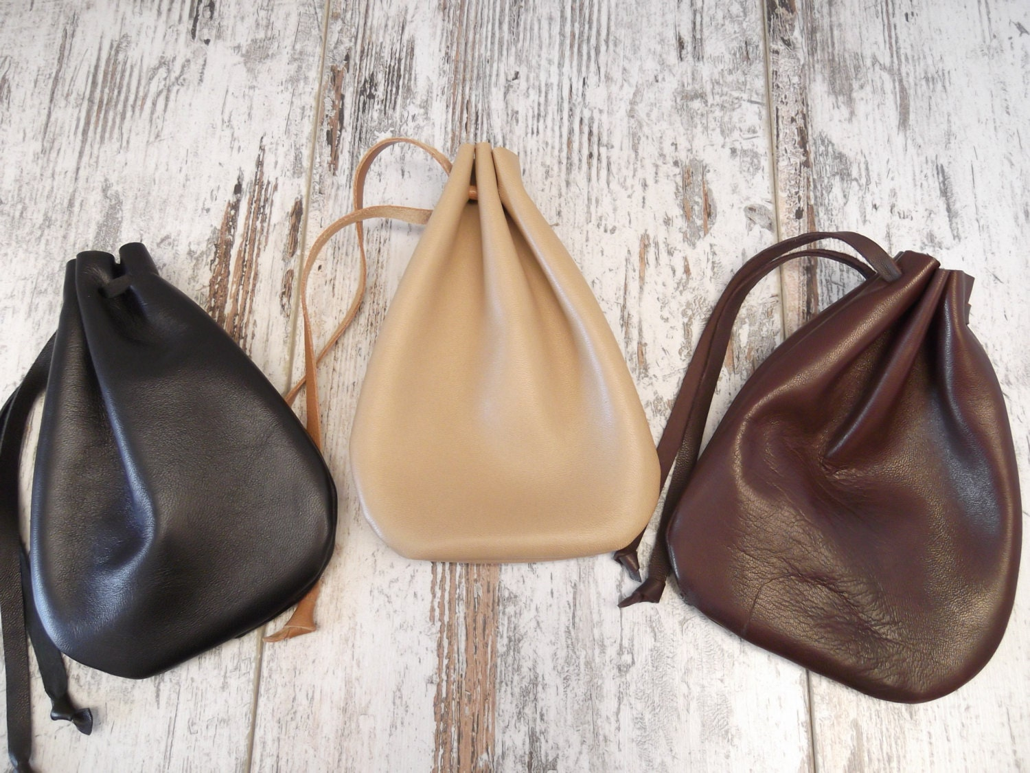 Leather drawstring pouch drawstring bag medicine pouch for Drawstring jewelry bag pattern