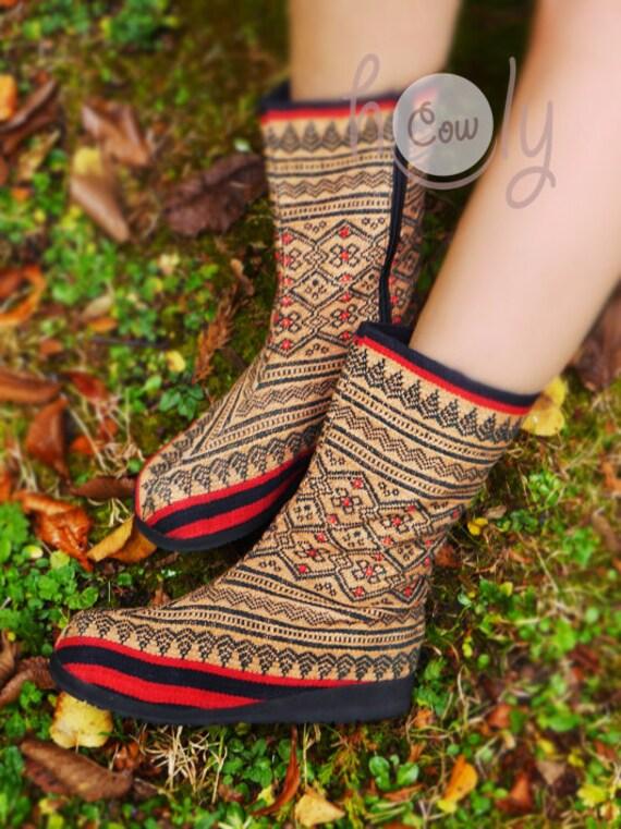 Ethnic Gypsy Tribal Vegan Boots Hippie Boho Vegan Boots Boots Boots Women's Boots Hmong Boots Boots Boots Women's Boots Tribal xwpfTnZq1