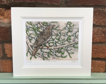 Mistle Thrush Limited Edition Art Print