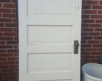 Old Wood Door, Solid Wood, Farmhouse Salvage, Building Supply,  Architectural Salvage,