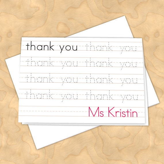 personalized notecards, thank you cards, teacher thank you cards, graduation thank you cards, 4x6 notecards, teacher appreciation, NC126