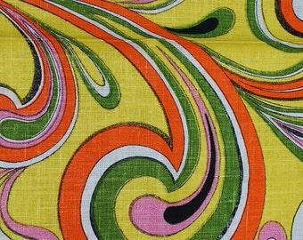 1960s Vintage Paisley Print Kitchen Towel-Mod