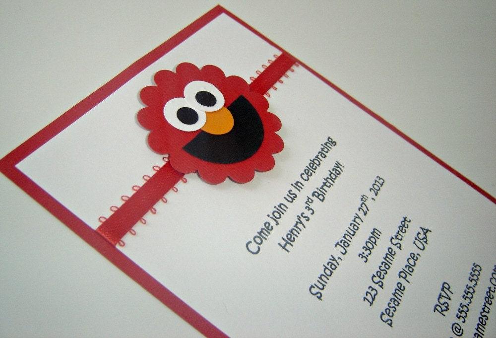 Elmo sesame street birthday invitation 1 zoom filmwisefo