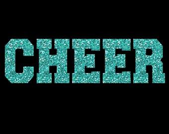 Custom Cheer Name Team Glitter Iron On Heat Transfer Vinyl Fully Customizable Decal