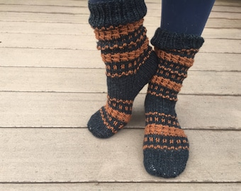 Handknit thick socks