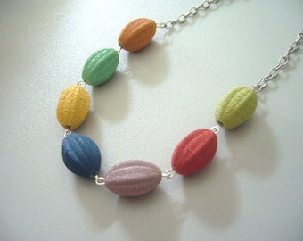 Barcelona necklace, colorful necklace