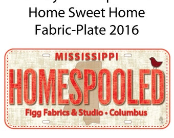 HOMESPOOLED Row by Row Experience Home Sweet Home License Fabric-Plate 2016