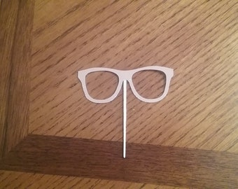 12 Nerd Glasses CupcakeToppers! Choose your color! Double sided!