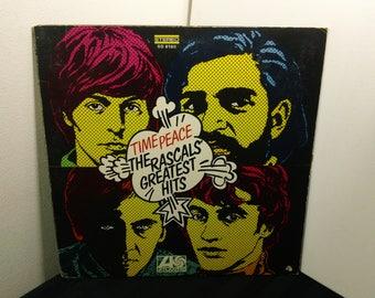 "The Rascals - Time Peace: The Rascals' Greatest Hits - SD 8190 - 12"" vinyl lp, album,compilation,unipak (Atlantic Records,1968) Classic Rock"