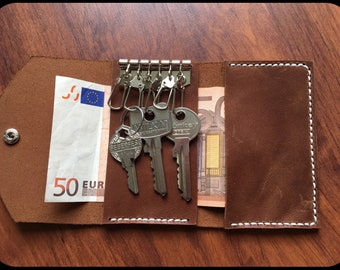 Leather Key Case Brown