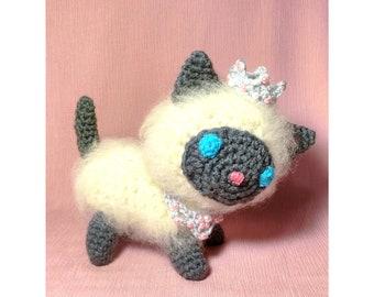 Elise The Persian Kitten crochet amigurumi stuffed toy baby children birthday perfect gift READY TO SHIP