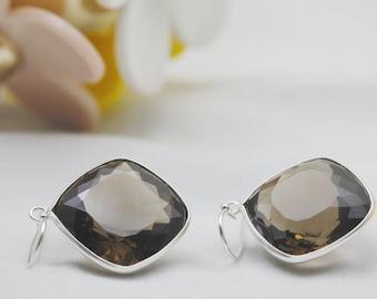 Smoky Quartz earrings , Dangle earrings, Smoky quartz, Silver earrings, Cushion stone, drop earrings, christmas gift, new year gift