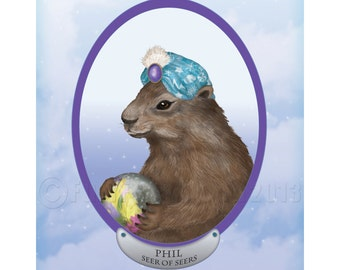 Psychic Groundhog Predicts the Future Print