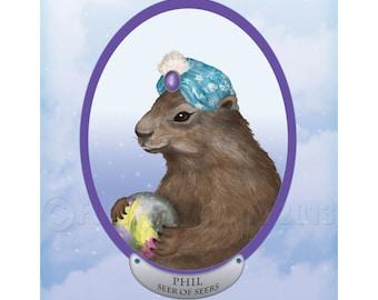 Marmotte psychique prédit l'avenir impression