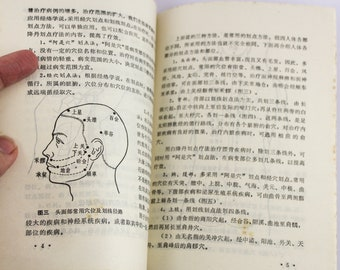 1973 Chinese Traditional Medicine (TCM) Booklet with Acupuncture Diagrams