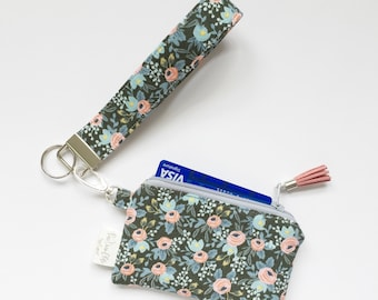 Keychain Pouch // Rosa in Hunter by Rifle Paper Co