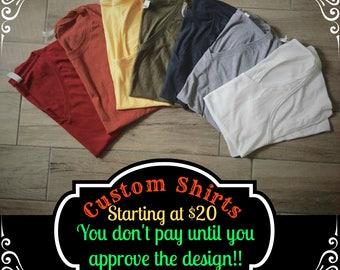 Custom Shirts & Tank Tops - Women's, Options, Your Design