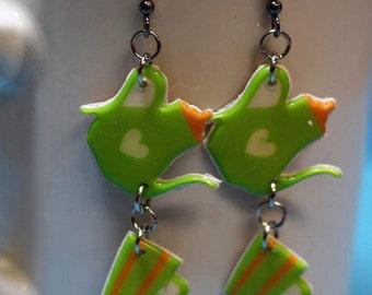 Cute tea time earrings