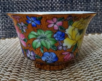 Gold Floral Rice Bowl