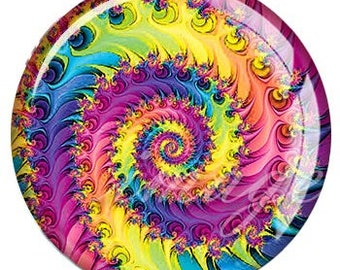 Colorful Swirl Snap - Rainbow Snap - Compatible with Gingersnaps - - Ginger Snaps -  Magnolia and Vine - Noosa 18-20mm Base - Enamel Snap