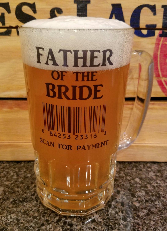 Preferred Wedding Beer - Custom Beer Stein - Custom Beer Glass - Beer Mug  PS78