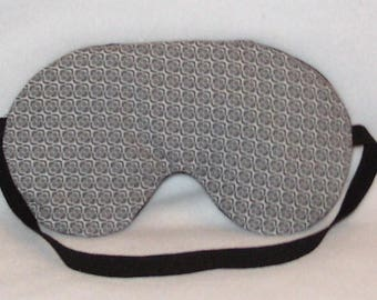 Handmade Grey Sleep Eye Mask Blindfold Hen Stag Blackout Migraine Relief