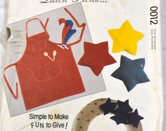 Sewing Pattern McCall's 0012 DIY Gifts  Uncut  Complete