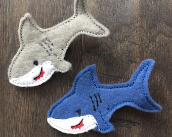 Shark Week Hair Clip Bow