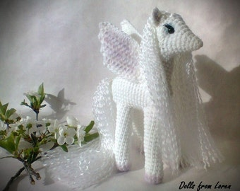 White Crochet Pegasus Will be made JUST FOR YOU