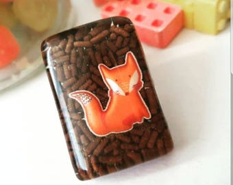 TOO SWEET Chocolate Fox Brooch