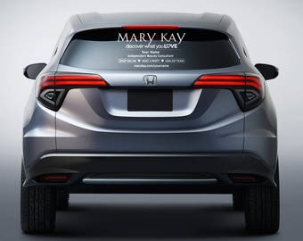 "Mary Kay Clear Vehicle Decal | Discover what you Love | Large - 20"" x 12"""