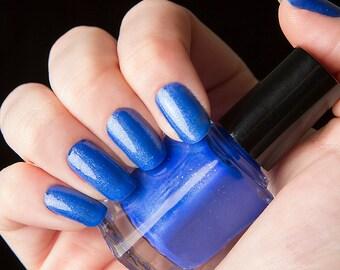 ElectroBolt - Shocking blue/purple iridescent jelly lacquer - Rapture Collection - .45oz/13.2mL